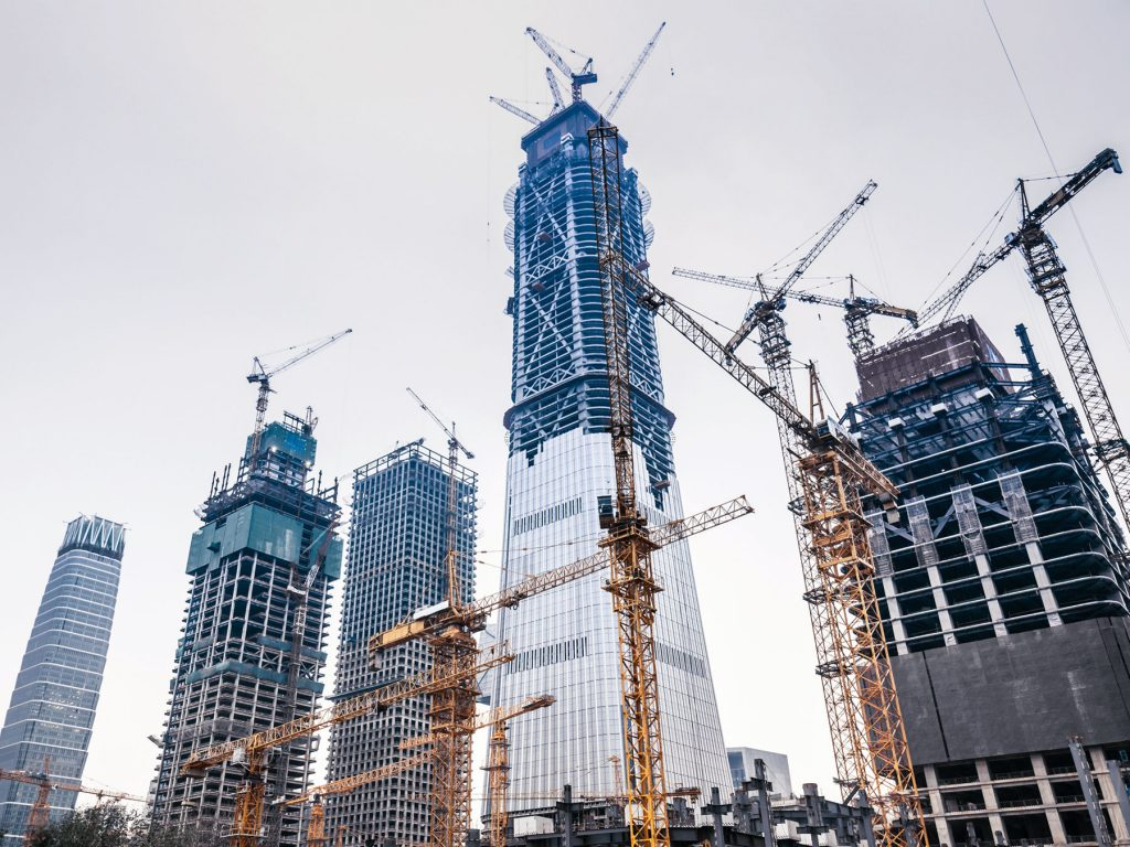 High Rise Construction Building